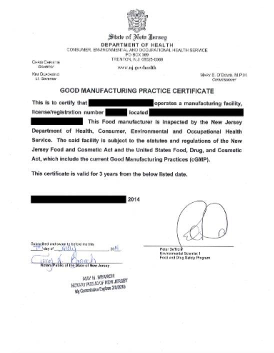 GMP-Certificate
