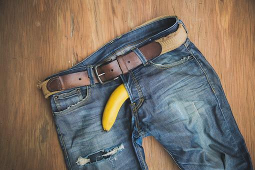 banana inside pants penis pump for ed